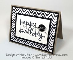 Simple tips for creating a hand stamped masculine birthday card with Stampin' Up! Watercolor Words stamp set. Daily ideas & inspiration.