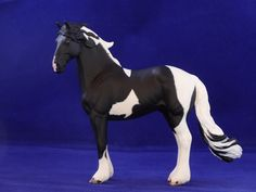 2016. Custom painted CollectA friesian model horse. Custom by Zane Lahdenranta ( Frosty Birch Studio)