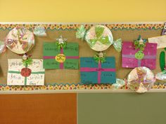 Glitzy In 1st Grade: cute decoration and math practice..could also write parts of a story..vocabulary words..word families...