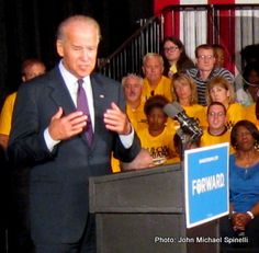 """Since Ohio is so important in this year's run for the White House, it's no surprise that Vice President Joe Biden was back in the Buckeye State on Wednesday to speak to a """"fired up and ready to go"""" crowd that assembled to hear him at the student union on the campus of Wright State University near Dayton, home of Ohio heroes, Orville and Wilbur Wright, who pioneered controlled heavier than air flight. Mr. Biden added a tone of solemnity in light of deaths of embassy personnel in Libya Tuesday..."""