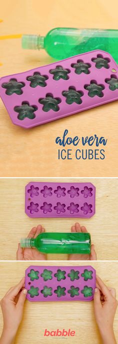 The summer sun can be cruel, leaving you and the kids with bad sunburns, from a beach trip or even playing outside. The perfect cure is DIY Aloe Ice Cubes. Grab some aloe vera and an ice cube tray and you'll have the ultimate summer cool down. Click for the summer hack tutorial.