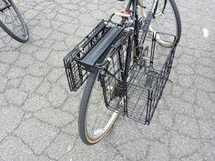 Ben's Journal: Review: Wald #582 Folding Rear Mounted Bike Basket (aka Mesh Wire Panniers)