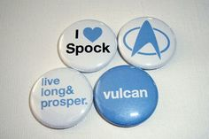 star trek pins    Researching for a current book I found the origin of the Live Long & Prosper symbol has its roots in a Kabbalah blessing. Fascinating--as Spock would say.