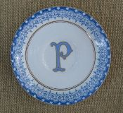 antique plates with new monograms