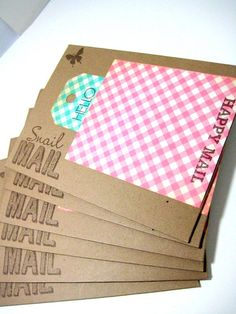 set of 6 A1 envelopes decorated envelopes by ArasPaperCreations, $3.50