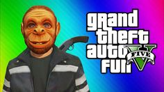 GTA 5 Online Funny Moments Gameplay - Invisible Glitch, Monkey Masks, Jet Fun, Cars (Multiplayer)