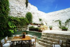 Terrace at Hotel Ses Sucreres, small hotel in Minorca