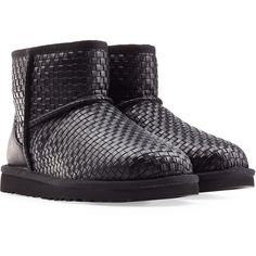 318b03c0b9d UGG Australia Classic Mini Woven Boots ( 245) ❤ liked on Polyvore featuring  shoes