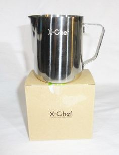 X-Chef stainless steel milk cup frothing pitcher 12-ounce #XChef