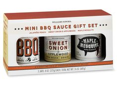 Williams-Sonoma Mini BBQ Sauce Set from Guy's Gift Guide 2013 | E! Online