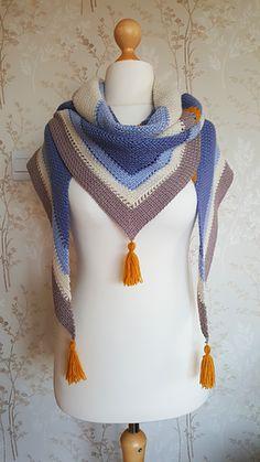 Coffee Shop AU Shawl - free crochet pattern by Nesting Tendencies.
