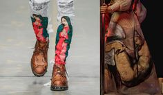 Trends : The drama of fashion finds a perfect canvas with iconic religious art, remixed with a sense of pop art and brand recuperation on the heels of Vêtements leading the way for all things subverted. (#811385)