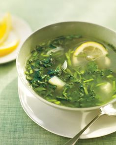 watercress soup... this simple soup highlights the flavor of watercress: clean and slightly bitter but not overwhelming.