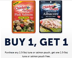 *HOT* Buy One Get One FREE Chicken Of The Sea coupon (printable) PLUS join the Mermaid Club for high value mailed coupons and more! http://www.freebiequeen13.net/the-mermaid-club.html
