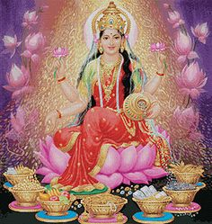 Lakshmi Goddess of Wealth and Abundance, the Ever Flowing Out Pouring of Plenty