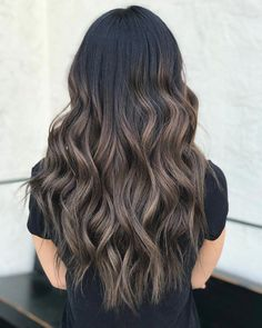 60 Hairstyles Featuring Dark Brown Hair with Highlights Ash Brown Balayage Ombre – Farbige Haare Ash Brown Balayage, Balayage Hair Ash, Brown Blonde Hair, Balayage Brunette, Light Brown Hair, Ash Brown Ombre, Ash Brunette, Black Hair, Red Hair