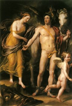 Perseus Frees Andromeda by Anton Raphael Mengs. c. 1773-1776, oil on canvas, The State Hermitage Museum