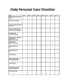 Free Daily Checklist Template And Its Purposes  Daily Checklist