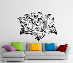Salle de méditation Lotus Flower Wall Decal Yoga Namaste Vinyl