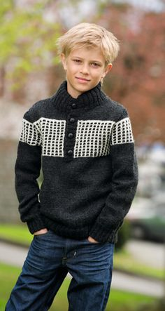 boy's sweater with buttons