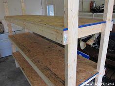wood shelf, garage, organize, heavy duty, strong, 2x4 shelf