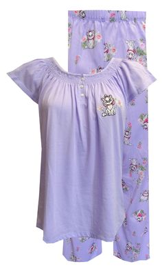 Disney s Aristocats Marie Lilac Floral Capri Length Pajama (Small through  3X) These jammies will 7b8f8e20a