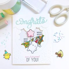 """929 Likes, 11 Comments - Mama Elephant (@mamaelephant) on Instagram: """"A ton of Congratulatory sentiments to go with Party Animals. Congrats All Around is on the…"""""""