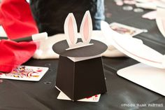 Magic Hat Favor Box : DIY Printable Rabbit in the Hat Gift Box PDF // Magic Show Favor // Magician // Magic Wand - Instant Download by PiggyBankParties on Etsy https://www.etsy.com/listing/107886997/magic-hat-favor-box-diy-printable-rabbit