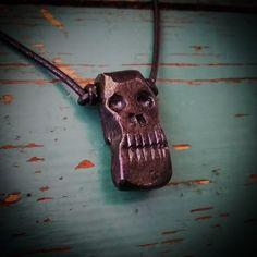 Hand forged skull. #handforged #skull #skullneclase #blacksmithing