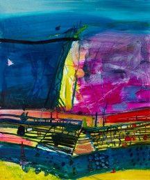 Barbara Rae | South Alpujarra | mixed media on paper | 48 x 40 inches.