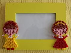 Girl frame hama beads by Mamma Gioca