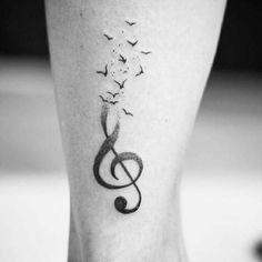 15 ideias de tatuagens para quem ama música – MdeMulher