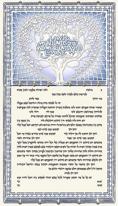 One Heart III Ketubah - Blue by Danny Azoulay is now available at Ketubah.com!