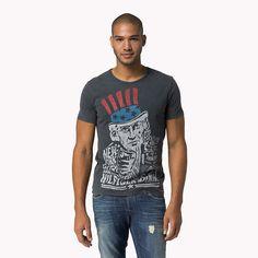 Hilfiger Denim Rex Print T-shirt - graphite-pt (Blau) - Hilfiger Denim T-Shirts - Hauptbild