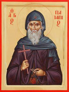 Patapios of Thebes Russian Orthodox icon Byzantine Art, Byzantine Icons, Religious Icons, Catholic Saints, Art Icon, Orthodox Icons, Angel Art, Animal Quotes, Op Art