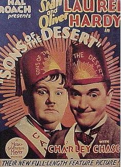 Sons of the Desert is a 1933 American film starring Laurel and Hardy, and directed by William A. Seiter. It was first released in the United States on December 29, 1933 and is regarded as one of Laurel and Hardy's greatest films. In the United Kingdom, the film was originally released under the title Fraternally Yours.