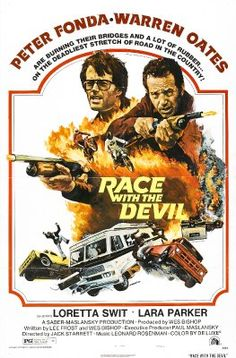 Race with the Devil starring Peter Fonda and Warren Oates, exploitation movie poster Classic Movie Posters, Horror Movie Posters, Movie Poster Art, Horror Films, Classic Movies, Halloween Movies, Scary Movies, Old Movies, Vintage Movies