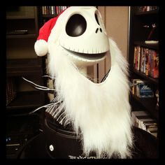 Jack Skellington Head Bust with DVDs Jack Skellington Head, Amazing Things, Riding Helmets, Hats, Pictures, Instagram, Photos, Hat, Hipster Hat