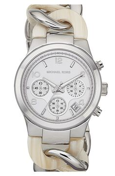 Michael Kors Chain Bracelet Chronograph Watch ♥✤ | Keep the Glamour | BeStayBeautiful