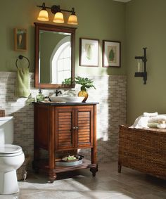 Create a tropical retreat. Reminiscent of a trip to the west indies, this plantation styled bathroom makes light and bright coastal inspired...