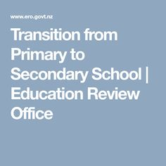 Transition from Primary to Secondary School Secondary School Education, Special Needs Students, Professional Development, Curriculum, Community, Resume, Communion