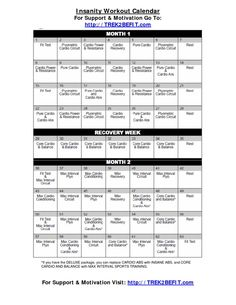 Insanity Workout Calendar Oh yeah!!!! Started three days ago and cant wait to see the results!! I am defiantly feeling it!!! :)