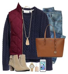 """""""what if I fall? oh but my darling what if you fly?"""" by emmig02 ❤ liked on Polyvore featuring Wrap, H&M, J.Crew, Forever 21, Essie and MICHAEL Michael Kors"""