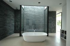 :: BATHROOMS :: lovely bathtub feature, Design team:  Osterwold°Schmidt , EXP!ANDER Architekten BDA, photographer: M. Schmidt