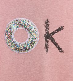 SPARKLY 'OK' T-SHIRT Kids Nightwear, Textile Logo, Clothing Logo, Kids Prints, Pineapple Wallpaper, Embroidery Techniques, Fashion Fabric, Summer Kids, Shirts For Girls
