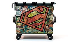 Superman comic collage Dumpsty.