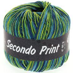 SECONDO print II 502-lime/turquoise/petrol/jeans/emerald