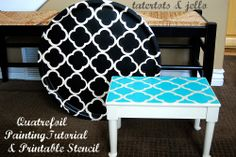 Quatrefoil Painting Project -- with free printable. I am going to try this on the glass of my hutch!