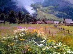 Dessin et peinture - vidéo 2069 : Quand la nature est exprimée à l'huile ou à l'acrylique et en chanson - peinture sur toile.