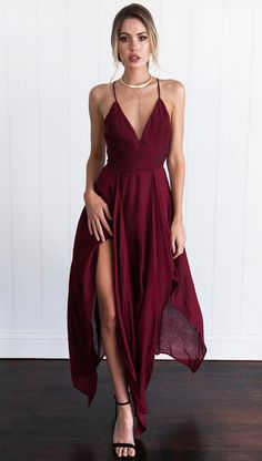4102472f2c1 Gorgeous Red 2 pieces Prom Dresses Long Sexy Evening Gowns Chiffon ...